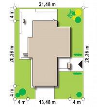 Минимальные размеры участка для проекта Zx112