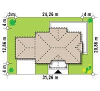 Минимальные размеры участка для проекта Zx113