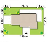 Минимальные размеры участка для проекта Zx114