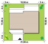 Минимальные размеры участка для проекта Zx115