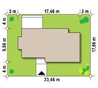 Минимальные размеры участка для проекта Zx116