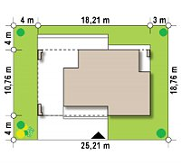 Минимальные размеры участка для проекта Zx117