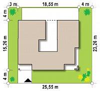 Минимальные размеры участка для проекта Zx119