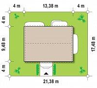 Минимальные размеры участка для проекта Zx11