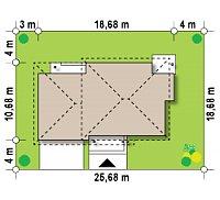 Минимальные размеры участка для проекта Zx12 GL2