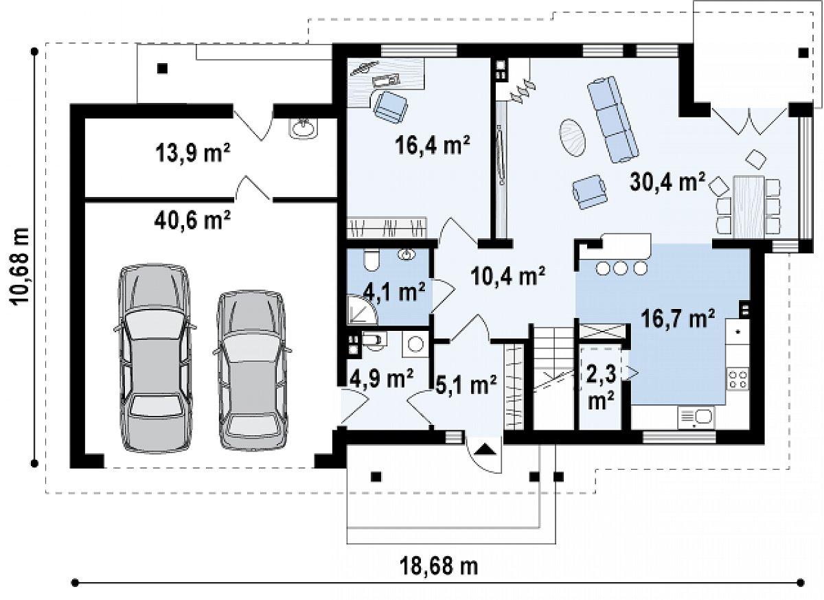 Первый этаж 90,4(144,1м²) дома Zx12 GL2