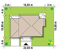 Минимальные размеры участка для проекта Zx12 k