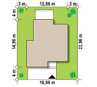 Минимальные размеры участка для проекта Zx120