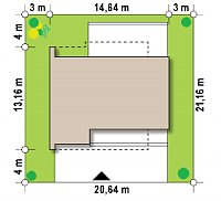 Минимальные размеры участка для проекта Zx121