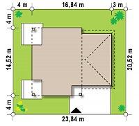 Минимальные размеры участка для проекта Zx122