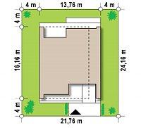 Минимальные размеры участка для проекта Zx123