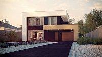 Проект двухэтажного дома с гаражом Zx123