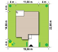 Минимальные размеры участка для проекта Zx124