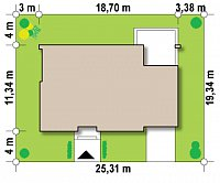Минимальные размеры участка для проекта Zx13