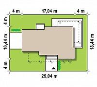 Минимальные размеры участка для проекта Zx14