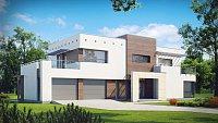 Проект современного европейского дома Zx15 GL2