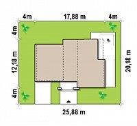 Минимальные размеры участка для проекта Zx15