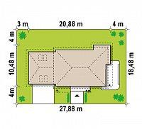 Минимальные размеры участка для проекта Zx16