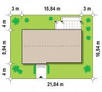 Минимальные размеры участка для проекта Zx17