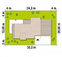 Минимальные размеры участка для проекта Zx1