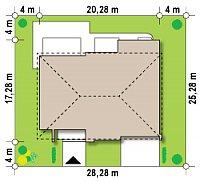 Минимальные размеры участка для проекта Zx20