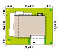 Минимальные размеры участка для проекта Zx21