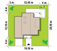 Минимальные размеры участка для проекта Zx23