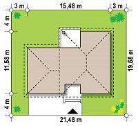 Минимальные размеры участка для проекта Zx24 GL2
