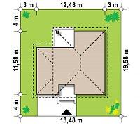 Минимальные размеры участка для проекта Zx24