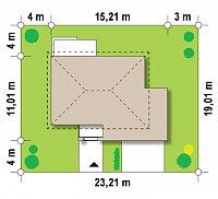 Минимальные размеры участка для проекта Zx26
