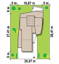 Минимальные размеры участка для проекта Zx27