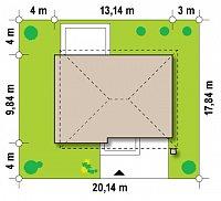 Минимальные размеры участка для проекта Zx29