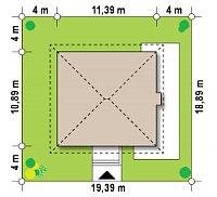 Минимальные размеры участка для проекта Zx2
