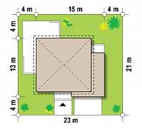 Минимальные размеры участка для проекта Zx30