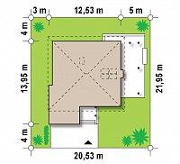 Минимальные размеры участка для проекта Zx33