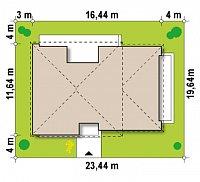 Минимальные размеры участка для проекта Zx34