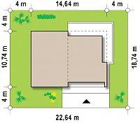 Минимальные размеры участка для проекта Zx35