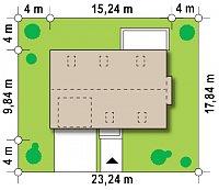 Минимальные размеры участка для проекта Zx36 A