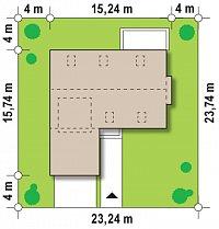 Минимальные размеры участка для проекта Zx36