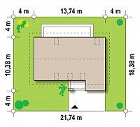 Минимальные размеры участка для проекта Zx38 v1