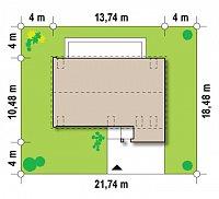 Минимальные размеры участка для проекта Zx38