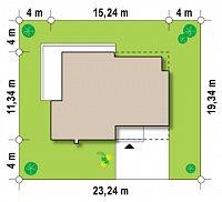 Минимальные размеры участка для проекта Zx39