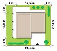 Минимальные размеры участка для проекта Zx3