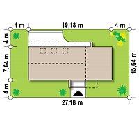 Минимальные размеры участка для проекта Zx40