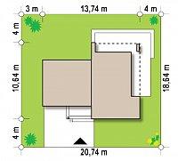 Минимальные размеры участка для проекта Zx41 v1