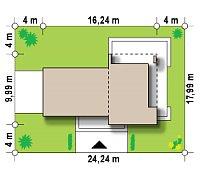 Минимальные размеры участка для проекта Zx41