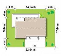 Минимальные размеры участка для проекта Zx43