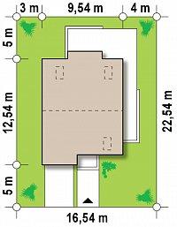 Минимальные размеры участка для проекта Zx44