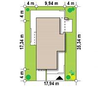 Минимальные размеры участка для проекта Zx45