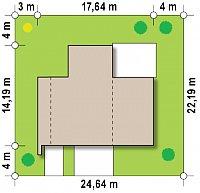 Минимальные размеры участка для проекта Zx46 GL2